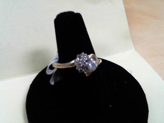 Lady's Diamond Fashion Ring 12 Diamonds .33 Carat T.W. 10K Yellow Gold 2.7g
