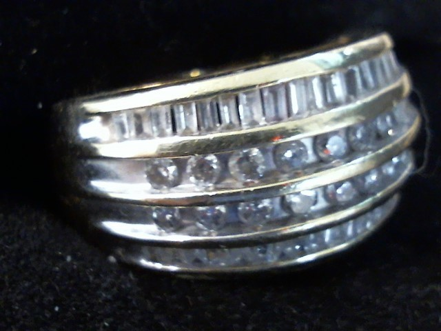 Lady's Diamond Cluster Ring 56 Diamonds .92 Carat T.W. 10K Yellow Gold 5dwt
