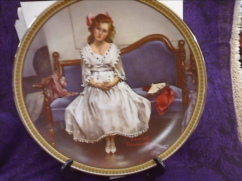 PRINTS ART MISC USED MERCH MISC USED MERCH NORMAN ROCKWELL PAINTED PLATES, #NV;