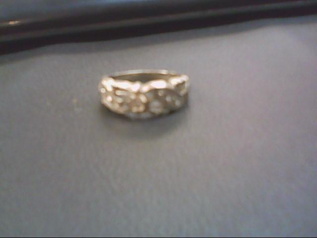 Lady's Diamond Cluster Ring 7 Diamonds .21 Carat T.W. 14K White Gold 3.1g