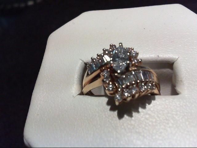 Lady's Diamond Wedding Set 35 Diamonds .93 Carat T.W. 14K Yellow Gold 6.04g