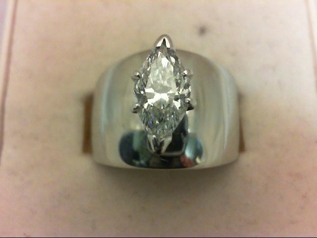 Lady's Diamond Wedding Band 1.00 CT. 14K White Gold 6.31g
