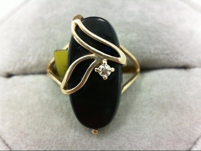 Lady's Gold Ring 10K Yellow Gold 3g Size:5.5