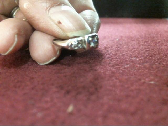 Lady's Diamond Engagement Ring 3 Diamonds .11 Carat T.W. 14K White Gold 1.2dwt