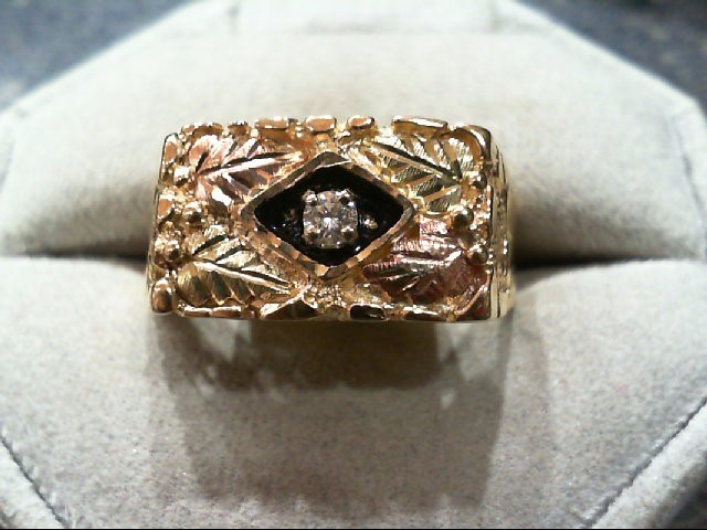 Gent's Diamond Fashion Ring 0.1 CT. 10K Yellow Gold 5.7g