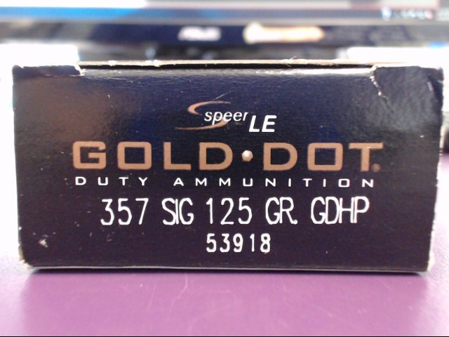 "Speer LE ""Gold Dot"" - Duty Ammunition - 357 SIG"