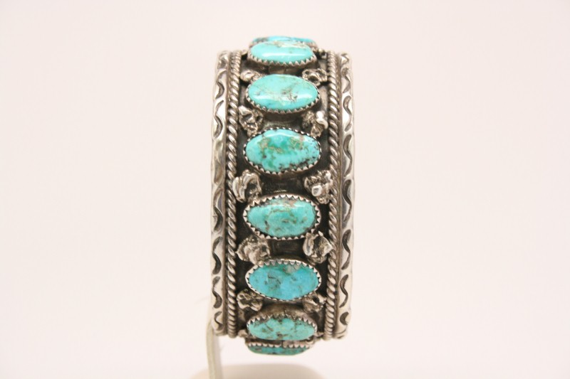 TURQUOISE SILVER BANGLE BRACELET