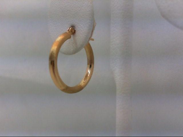 Gold Earrings 10K Yellow Gold 0.9g