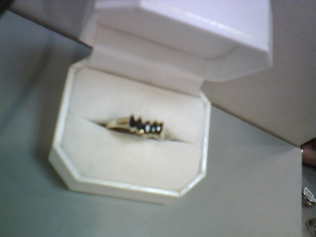 Synthetic Sapphire Lady's Stone Ring 10K Yellow Gold 1.5dwt Size:10.5