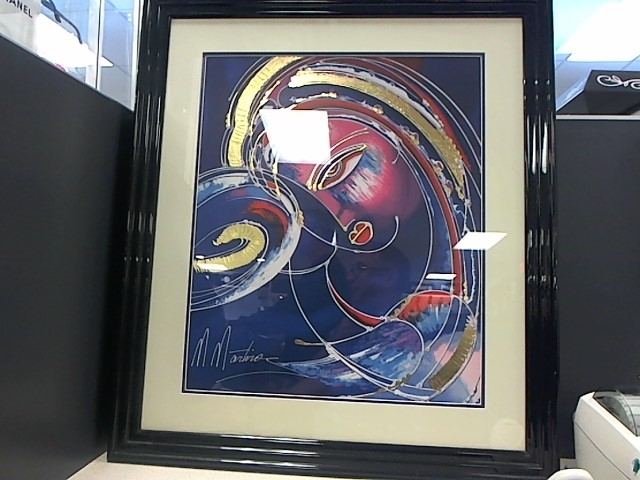 Martiros Manoukian Embelleshed Lithographed Double Mat Museum Framed