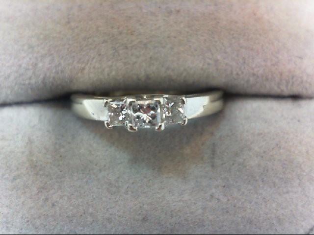 Lady's Gold-Diamond Anniversary Ring 3 Diamonds .33 Carat T.W. 14K White Gold
