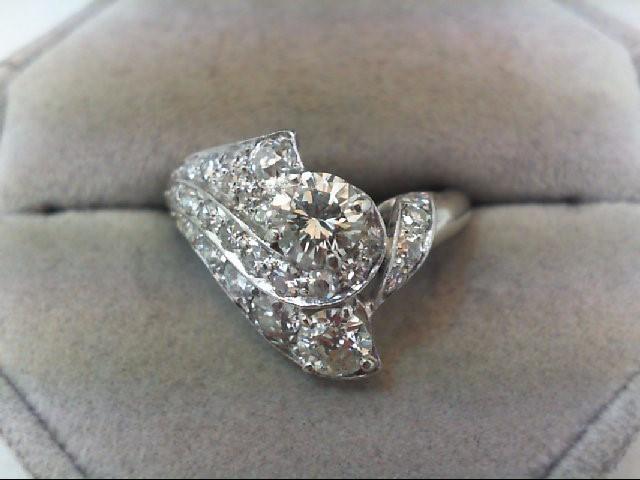 Lady's Platinum Diamond Cluster 27 Diamonds 2.01 Carat T.W. 950 Platinum 7.03g