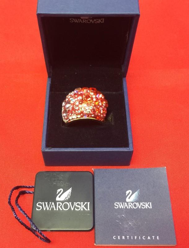 SWAROVSKI RED MULTI CHIC RING 58 LNIB 1041088