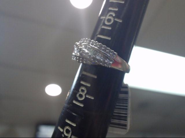 Lady's Diamond Wedding Band 62 Diamonds .62 Carat T.W. 14K White Gold 2.35dwt