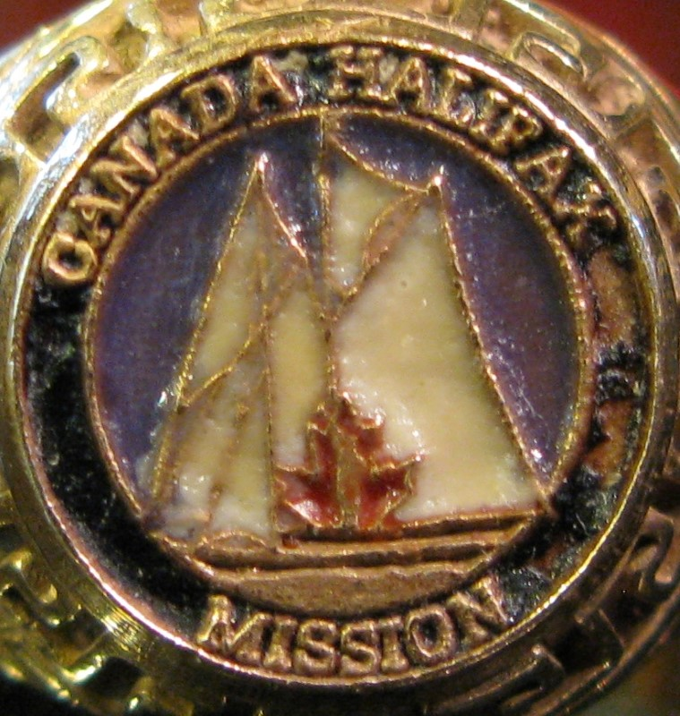 Canada Halifax Mission LDS Mormon 2009 Gold Ring 10K Yellow Gold 7.05dwt Size:11
