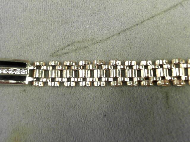 Gold-Diamond Bracelet 20 Diamonds .60 Carat T.W. 14K Yellow Gold 36.2g