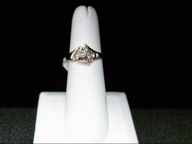 Lady's Diamond Fashion Ring 18 Diamonds .30 Carat T.W. 14K Yellow Gold 2.3g