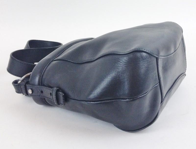 YVES SAINT LAURENT VINTAGE 107186 BLACK LEATHER SHOULDER BAG