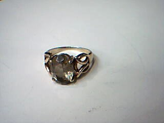 Brown Stone Lady's Stone Ring 10K Yellow Gold 6.7g