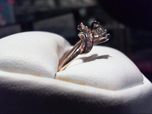 Lady's Diamond Engagement Ring 11 Diamonds .99 Carat T.W. 14K Yellow Gold 3.31g