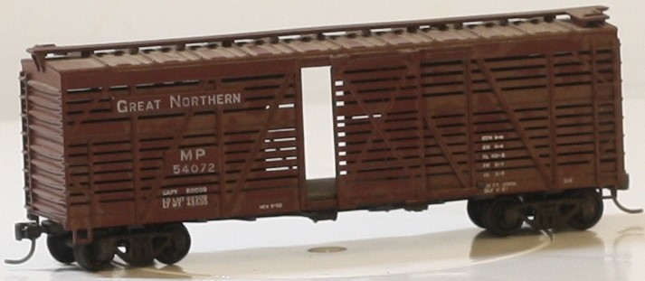 ATHEARN 1771 STOCK CAR GREAT NORTHERN #54072 FREIGHT BOX CAR HO
