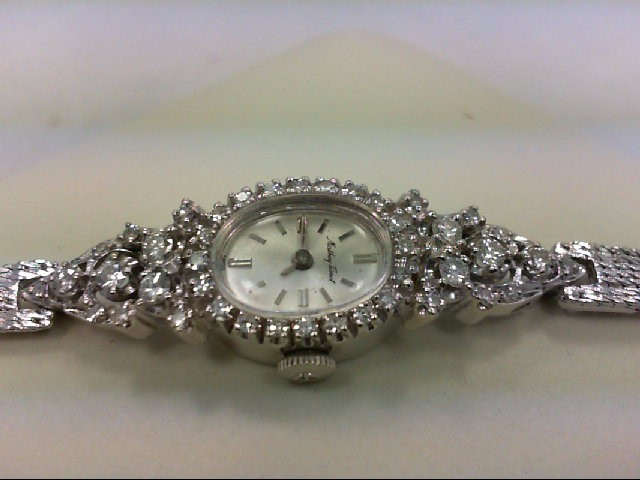 TISSOT Gent's Wristwatch 14K GOLD WATCH 44 Diamonds 1.22 Carat T.W. 14K White Go
