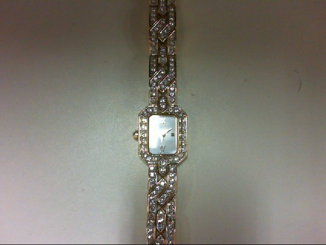 WITTNAUER MOP FACE CRYSTAL WATCH