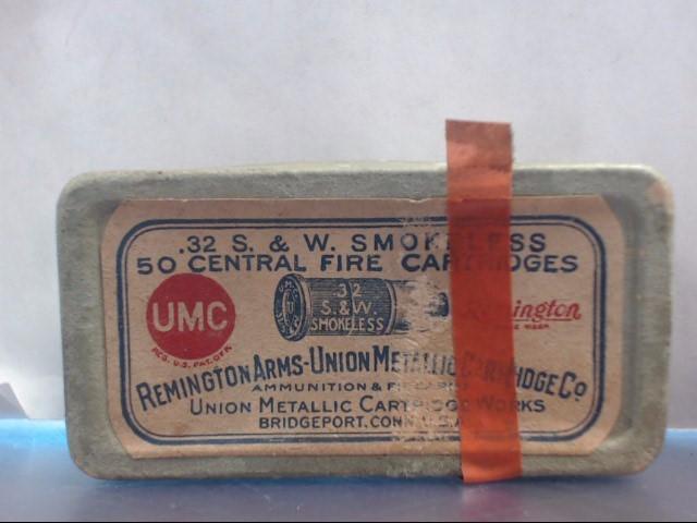 VINTAGE REMINGTON ARMS UMC CO. INC .32 CALIBER CENTER FIRE SMOKELESS