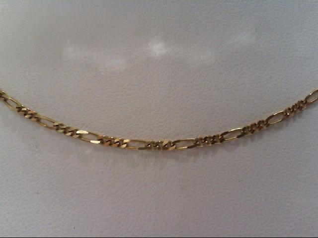 Gold Figaro Chain 14K Yellow Gold 3.2g