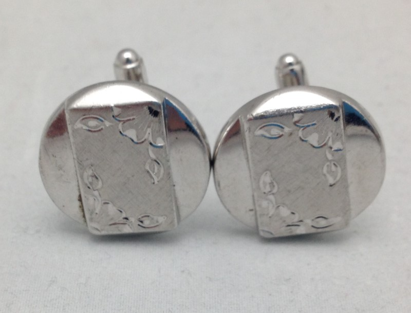 .925 Sterling Silver Engravable Cufflinks