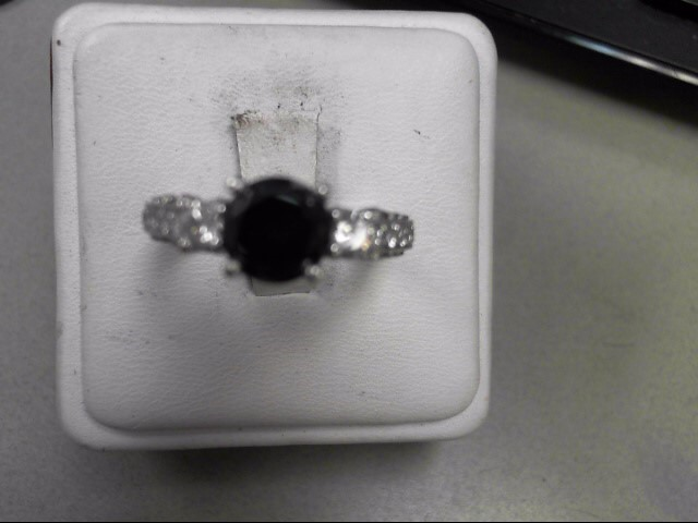 Lady's Diamond Solitaire Ring 1.94 CT. 18K White Gold 7.3g Size:9.5