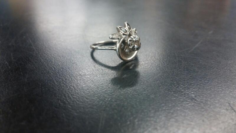 Gent's Diamond Cluster Ring .25 CT. 14K White Gold 2.1dwt Size:4.5