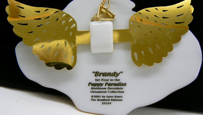 BRADFORD EDITION 7 PUPPIES FROM PUPPY PARADISE COLLECTIONS CHRISTMASE ORNAMENTS