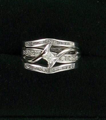 Lady's Diamond Engagement Ring 11 Diamonds .20 Carat T.W. 14K White Gold 3.6dwt