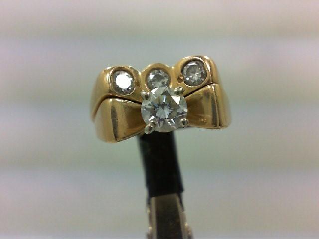 Lady's Diamond Wedding Set 4 Diamonds .80 Carat T.W. 14K Yellow Gold 7.64g