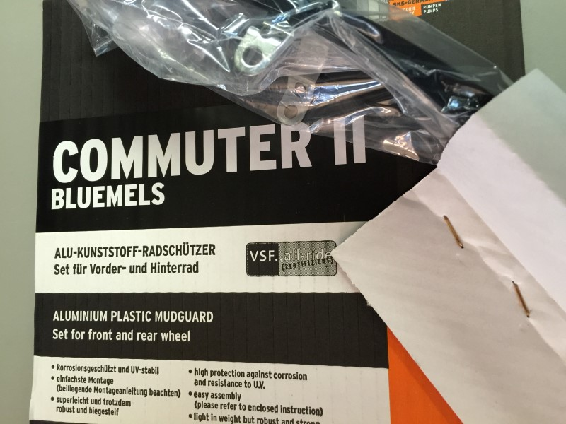 "SKS COMMUTER II FENDER SET BLACK 53MM 700x38-700x47 28""  NEW!"