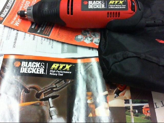 Black Amp Decker Mototool Dremel Rtx Rotory Tool Very Good