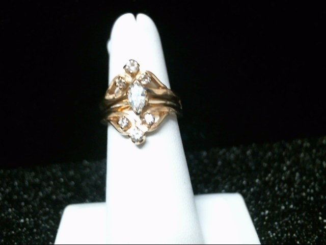 Lady's Diamond Wedding Set 7 Diamonds .56 Carat T.W. 14K Yellow Gold 8.8g