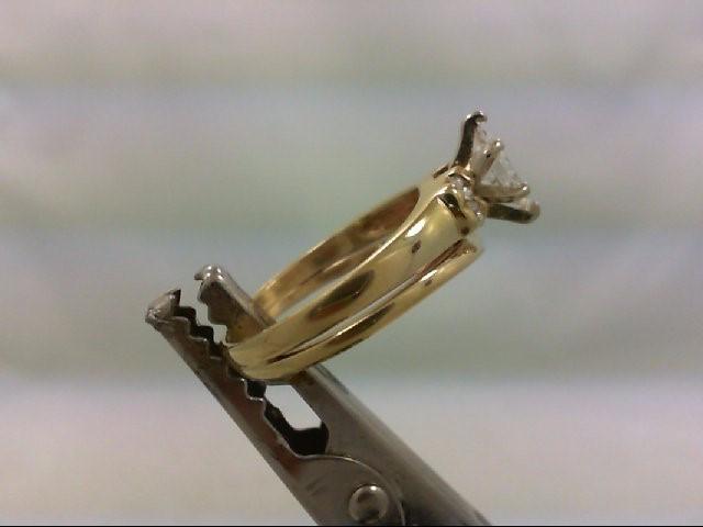 Lady's Diamond Wedding Set 5 Diamonds .66 Carat T.W. 14K Yellow Gold 3.92g