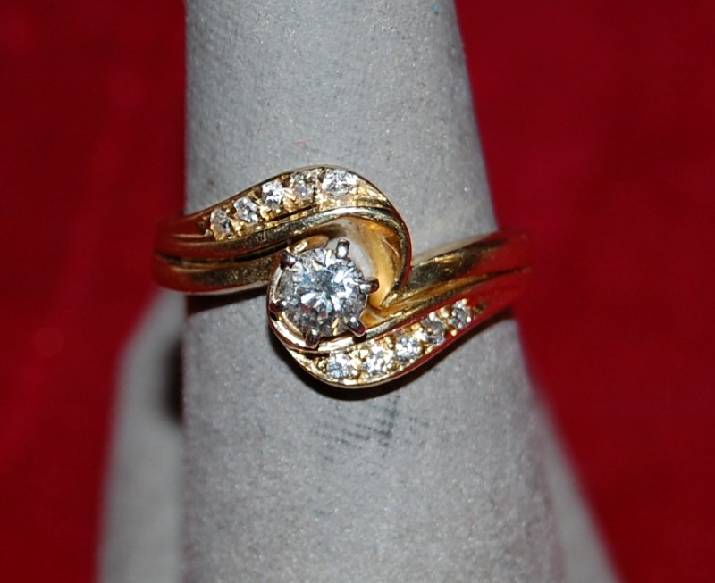 Lady's Diamond Solitaire Ring .35 CT. 14K Yellow Gold 4.8g