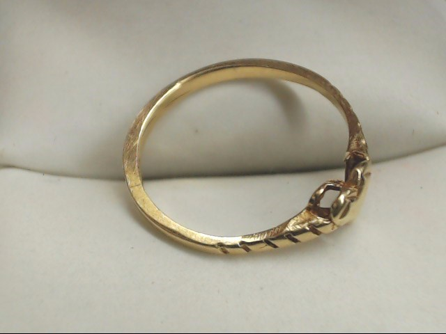 Lady's Gold Heart Ring 14K Yellow Gold 1.1g Size:5