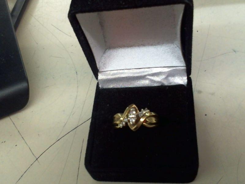 Lady's Diamond Wedding Set 7 Diamonds .22 Carat T.W. 14K Yellow Gold 5.8g