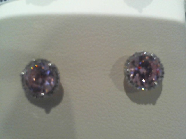 Gold Earrings 14K White Gold 2g