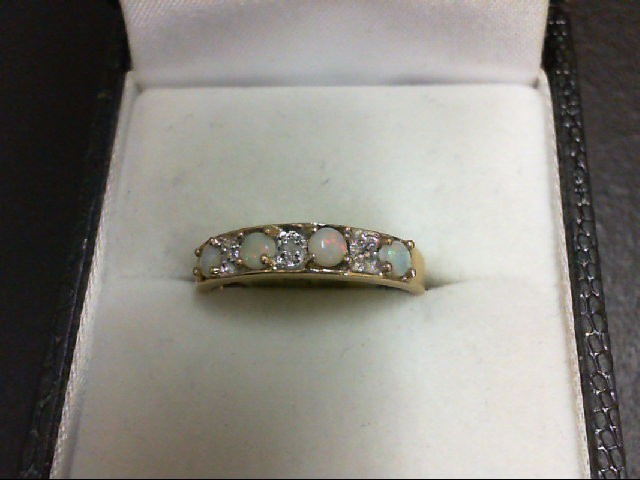 Opal Lady's Stone Ring 10K Yellow Gold 1.5g