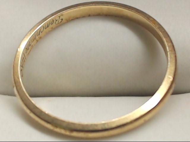 Lady's Gold Wedding Band 14K Yellow Gold 1.4g Size:6