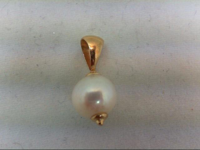 Pearl Gold-Stone Pendant 14K Yellow Gold 0.9g