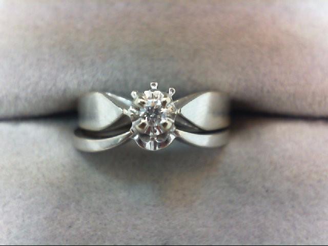 Lady's Diamond Wedding Set .05 CT. 14K White Gold 3.5g