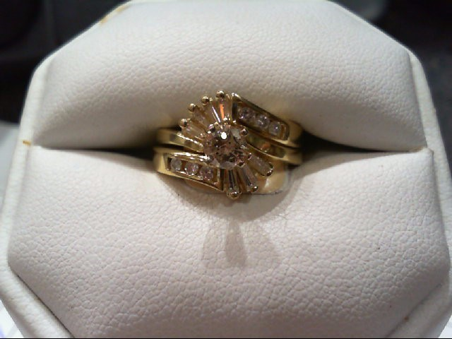 Lady's Diamond Wedding Set 14 Diamonds .84 Carat T.W. 14K Yellow Gold 5.7g
