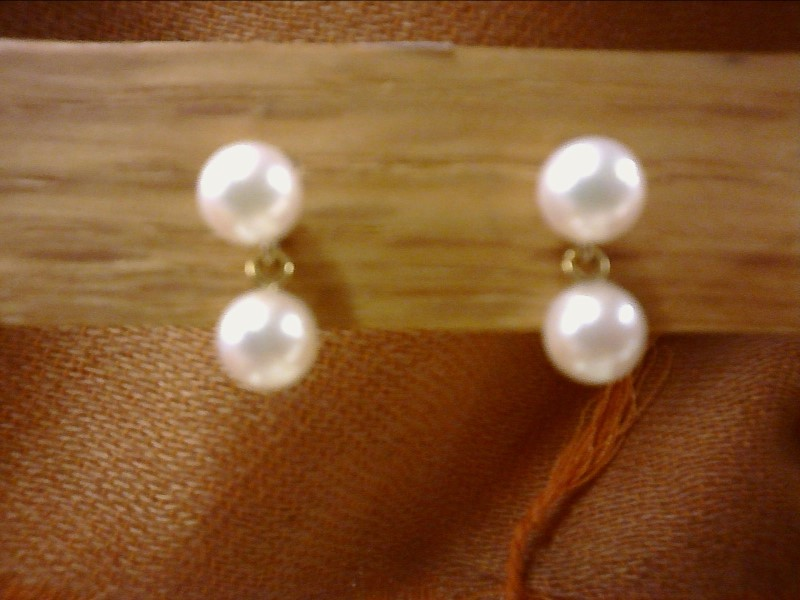 EARRINGS PEARL WITH DANGLE PEARL