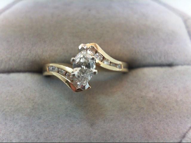 Lady's Diamond Engagement Ring 11 Diamonds .57 Carat T.W. 14K Yellow Gold 3.3g